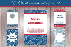 12 Christmas greeting cards - 2