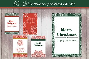 12 Christmas greeting cards - 3