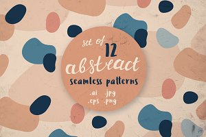 12 abstract seamless patterns