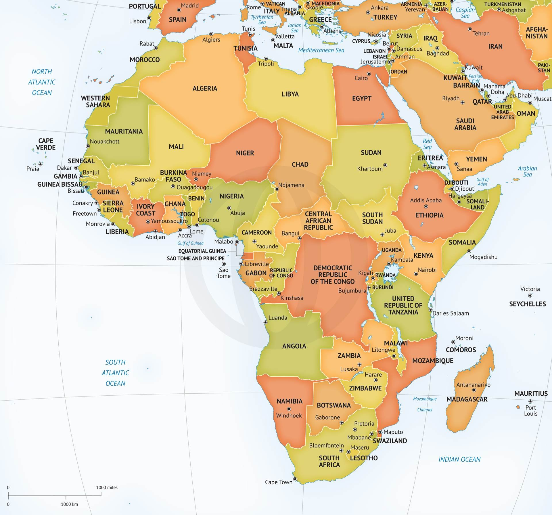 Vector map of continent africa graphics creative market publicscrutiny Image collections