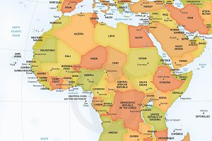 Vector map of continent Africa