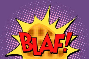blaf comic bubble retro text