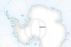 Vector map of continent Antarctica