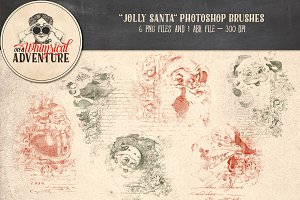 Jolly Santa Photoshop Brushes