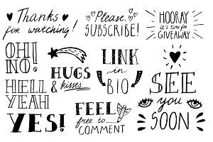 Blogger Lettering Set