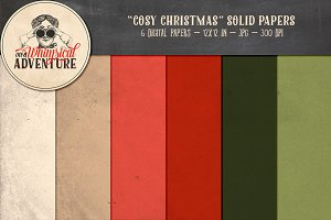 Cosy Christmas Solid Papers