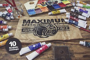10 Art Equipment Mockups