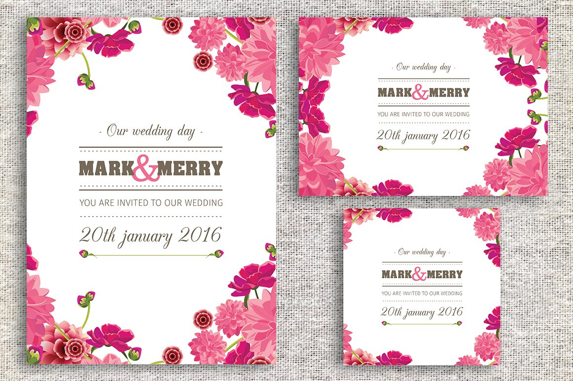 Wedding invitation card invitation templates creative market stopboris Choice Image