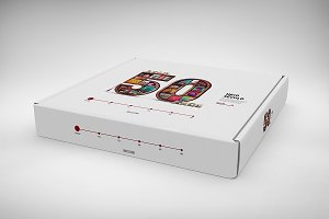 3D Box / Package Mock-Up 4