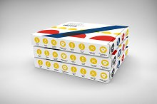 3D Box / Package Mock-Up 1