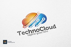 Techno Cloud - Logo Template