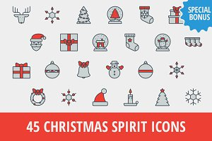 Sale: 45 Christmas Icons + Bonus!