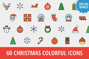 Sale: 60 Christmas Icons + Bonus!