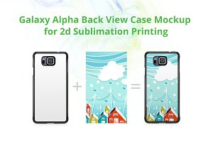 Galaxy Alpha 2dCase Back Mock-up