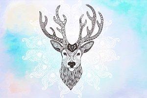 Deer Zentangle Inspired