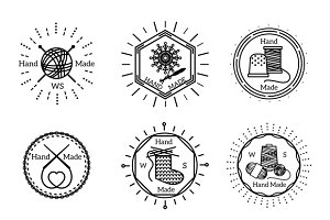 Knitting icons set