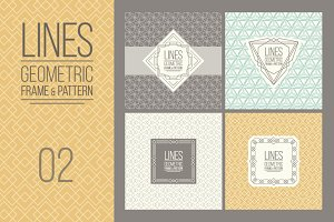 MONOLINE - 4 Patterns & Frames, v02
