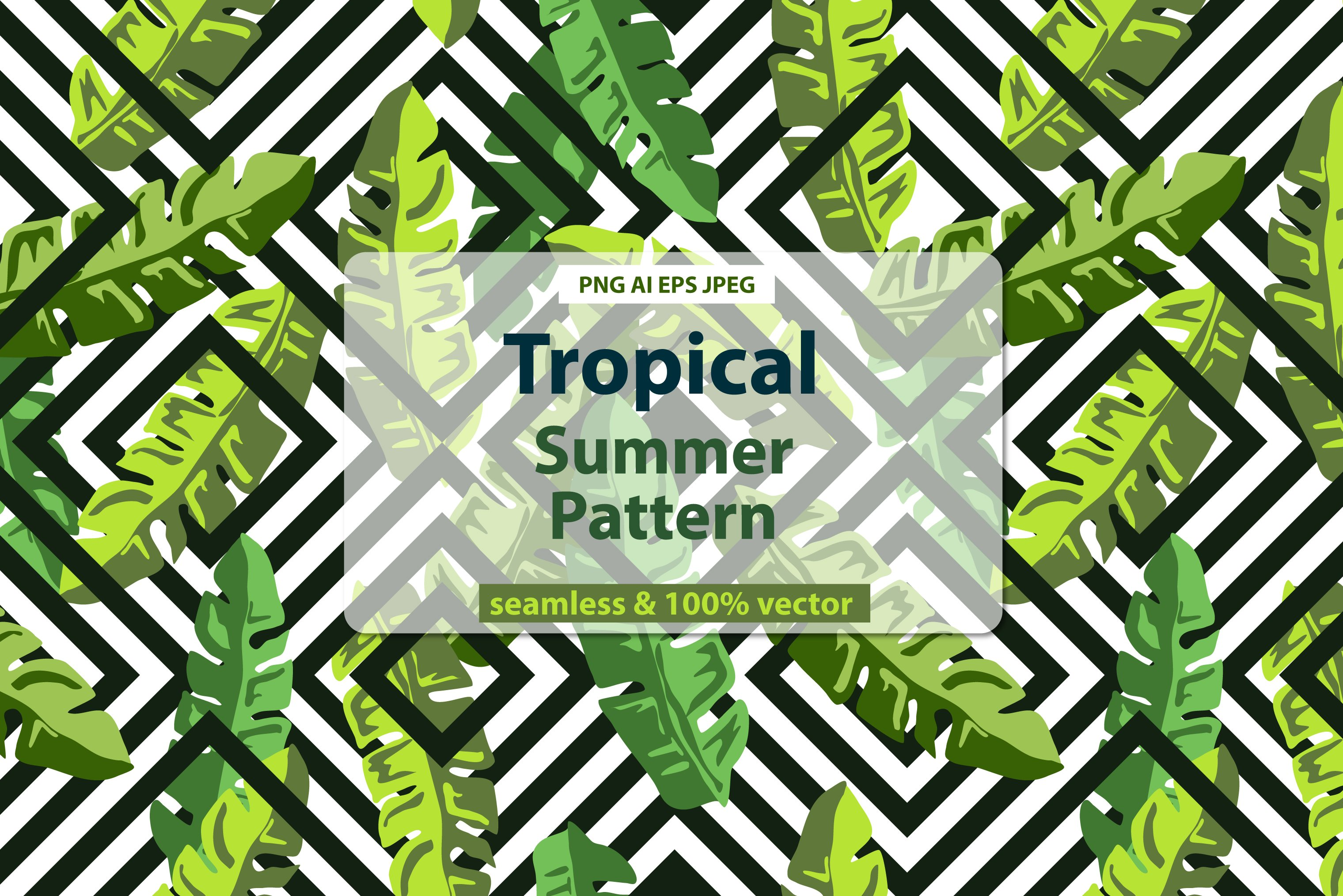 Tropical Palm Leaves Print Pre Designed Photoshop Graphics Creative Market Tropical leaves and flowers in the night style for men's prints. creative market