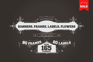 165 Vintage Vector Elements. Vol.1