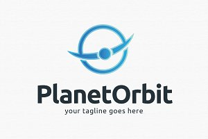 Planet Orbit Logo Template