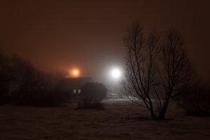 Foggy Evening in Wintertime