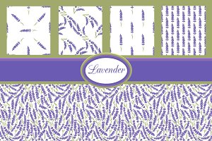 Lavender set of backgrounds