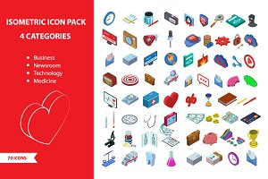 Isometric, 70 icon pack
