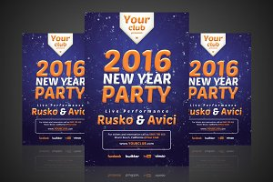 New Year - Flyer