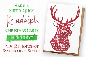 Rudolph Watercolor for Photoshop