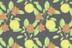 Fruits and flowers pattern