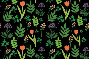Decorative meadow pattern