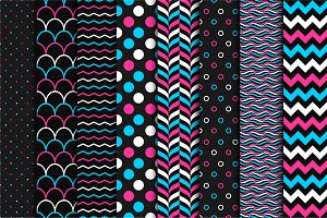 Set of color seamless patterns.