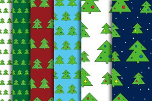 Christmas Tree patterns set