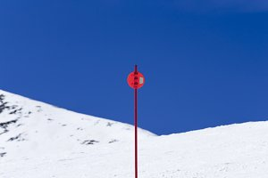 Signal in ski slope