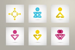 Set vector people icons