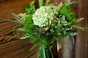 Green flower arrangement photo