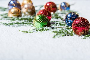 Multi-colored Christmas Ornaments