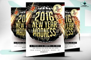 New Year Madness Flyer