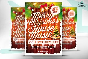 Christmas House Music Flyer
