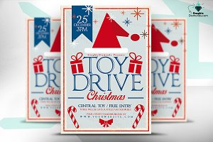 Toy Drive Christmas Flyer