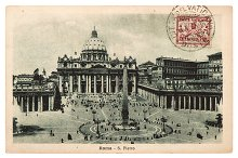 Vintage postcard from Vatican