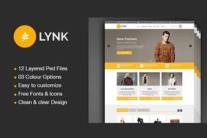 Lynk- eCommerce PSD Templates