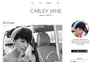 Blogger Template Black White Carley