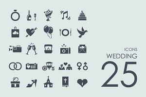25 wedding icons