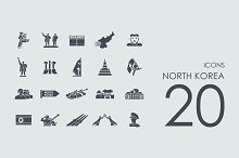 20 North Korea icons