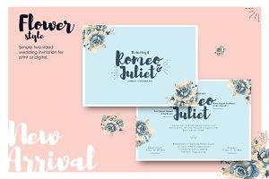 Exclusive flowery wedding invitation