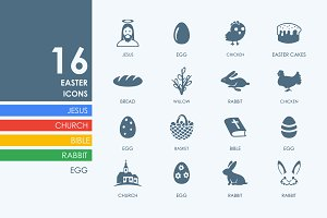 16 easter icons
