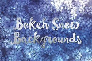 Bokeh Snow Winter Backgrounds