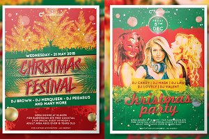 Christmas Party Flyer/Poster Bundle