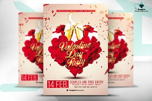 Valentine Day Flyer PSD